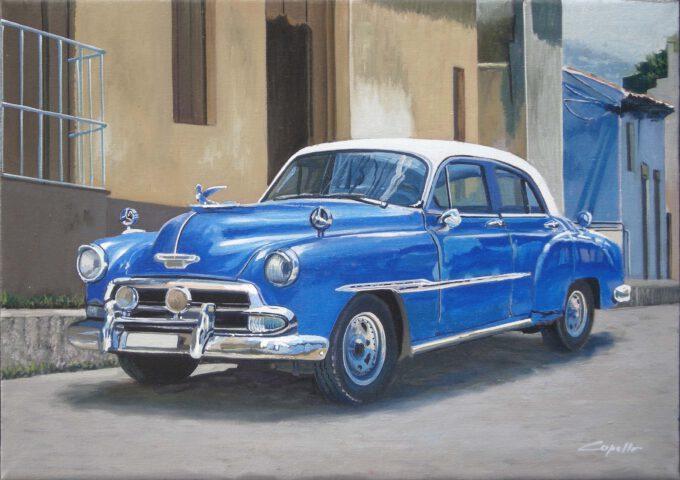 Cuban Car Blu by Francesco Capello