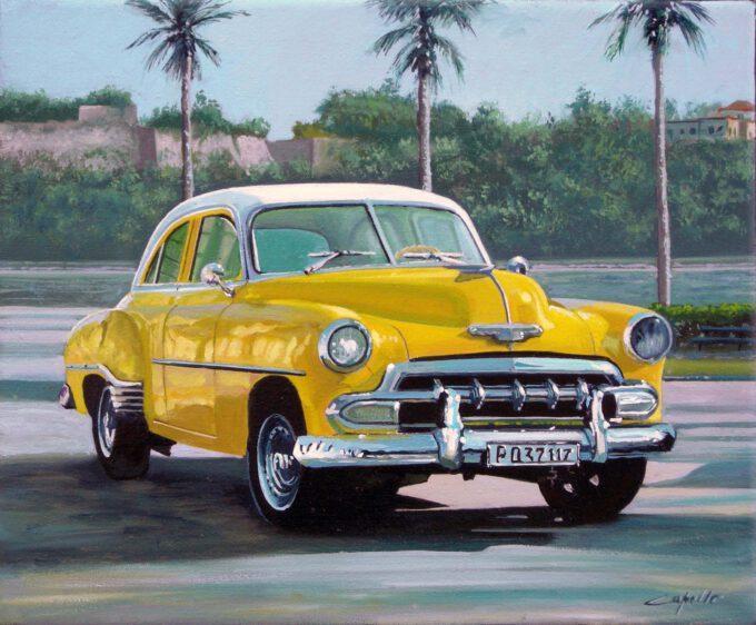 Cuban Car Gialla by Francesco Capello