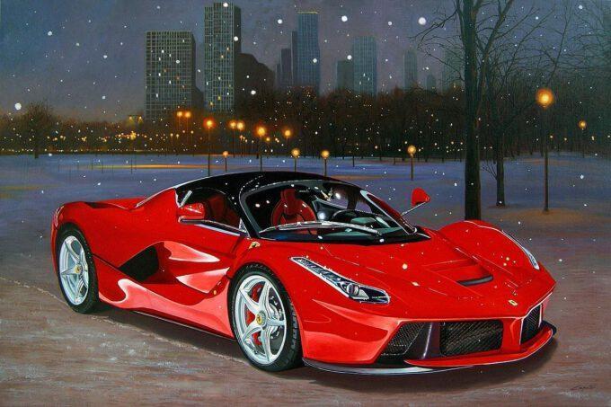 Ferrari La Ferrari At Grants Park Chicago by Francesco Capello