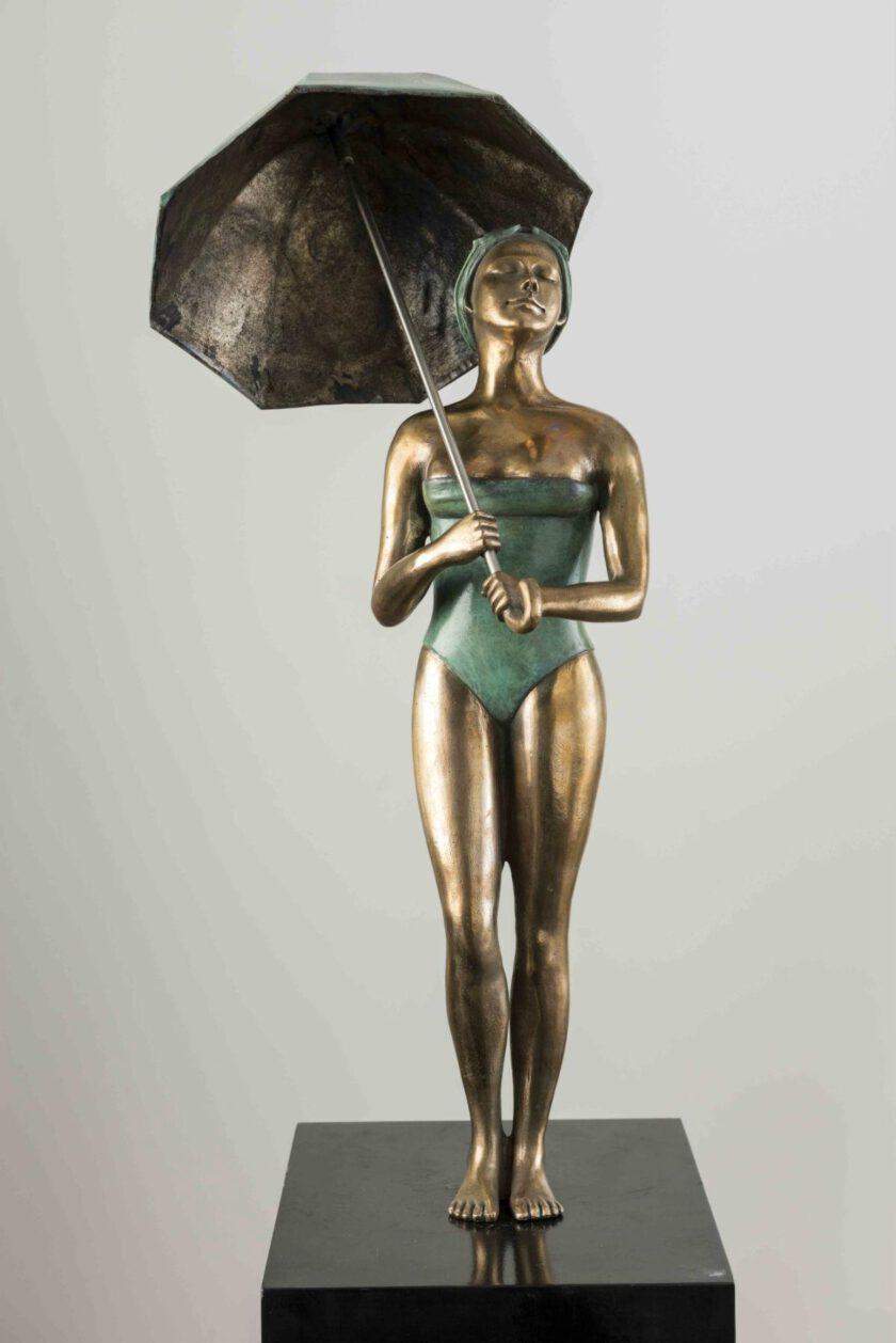 Girl Umbrella by Ignacio Gana