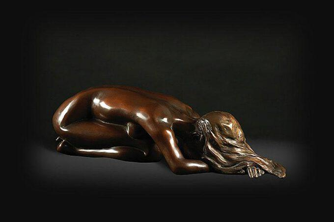 Kneeling Nude by Eleanor Cardozo