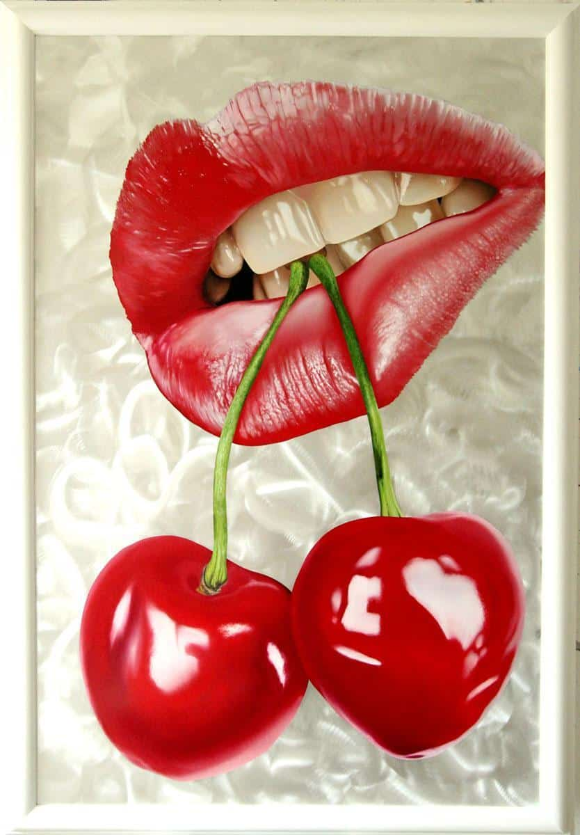Mouth With Cherries by Tommaso Arscone