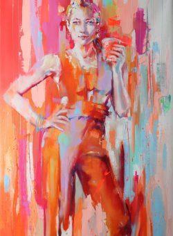 Red In The City by Monica Abbondanzia