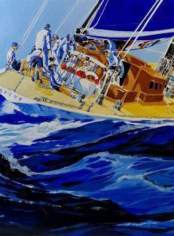 Sailing With Reyna by Massimo Pennacchini
