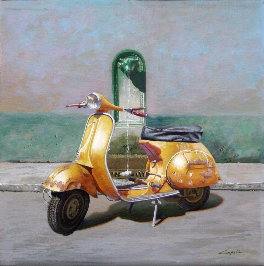 Vespa Gialla by Francesco Capello