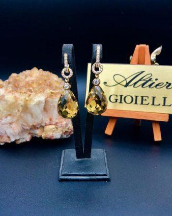 Yellow Gold Earrings by Trademark Altieri 1930