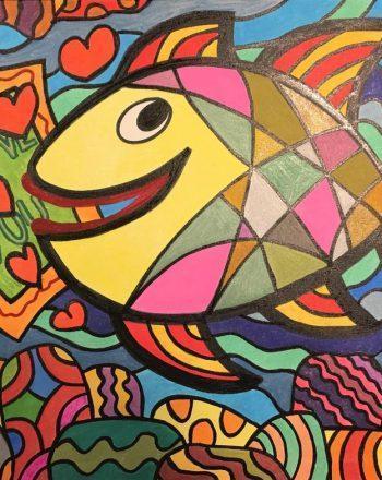 Colored Happy Fish by Jack Ottanio