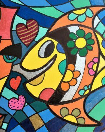 Happy Fish Loves Lucy by Jack Ottanio