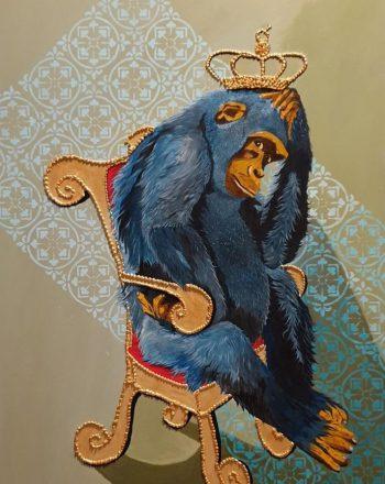 The Blu Chimp by Maria Marta Racca