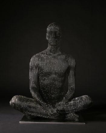 270_Life-size sitting Man