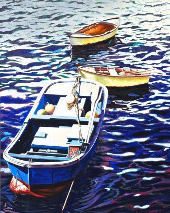 Nel porticciolo dei pescatori - Acrilici su tela 60x80 - 2016 Greco