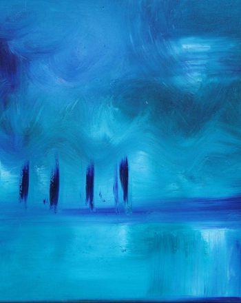 Notturno in blu 50x70 olio su tela