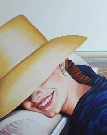 Sorriso - Olio su tela 90x90 cm - 2011 Greco