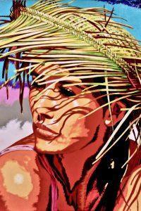 Sotto un cappello di paglia - Acrilici su tela 80x60 - 2020 Greco