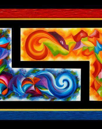 2012 - Luci e colori del giorno e della notte - Olio su tela - 98x50 B
