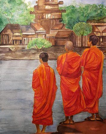 monaci arancioni