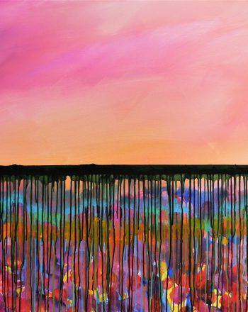 Summer sunrise-Alba di Primavera 2021, cm.100x150x2