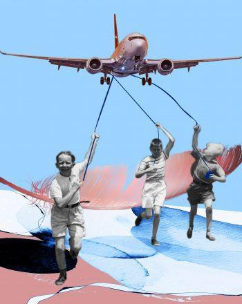 airplane 100x100 cm